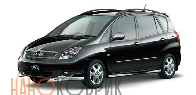 Автомобильные коврики ЭВА (EVA) для Toyota Corolla Spacio II правый руль (4WD E120) 2001-2007