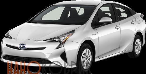 Автомобильные коврики ЭВА (EVA) для Toyota Prius IV правый руль (2WD XW50) 2015-2019