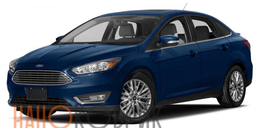 Автомобильные коврики для Ford Focus III рестайлинг седан (Mk 3) 2014-2018